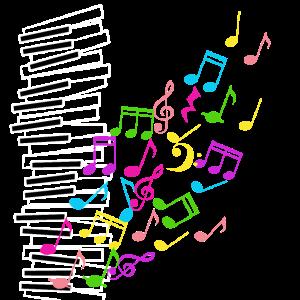Klavier bunte Noten