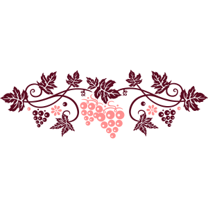 Weinranke mit Weinblättern, Weinrebe