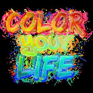 Color your Life (Schriftzug)