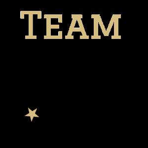Team Pommes retro Gold schwarz style mit Sternchen