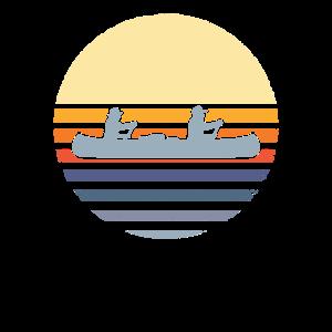 Retro Kanu Kanufahren