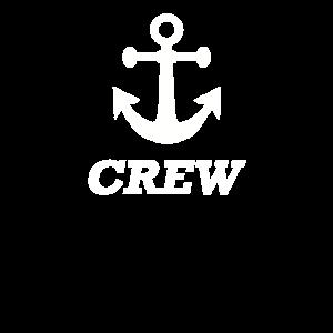 Crew mit Anker - Seefahrt Segeltörn Schifffahrt(W)
