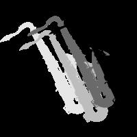 Saxofone Graustufen / Saxophones