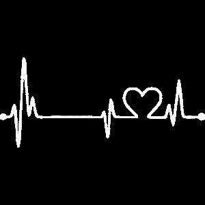 Herzlinie / Herzschlag mit Herzsymbol