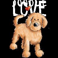 Doodle mit Herz - Goldendoodle - Hund - Geschenk