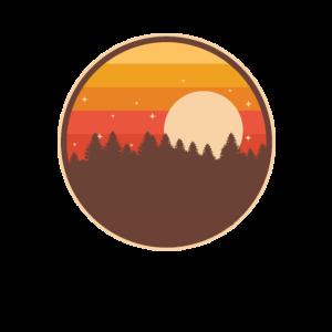 Wandern der Natur-Überlebens-schönen Tagesnachtansicht