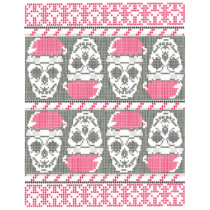 Creepy Ugly Christmas Weihnachten Pixelig Spruch