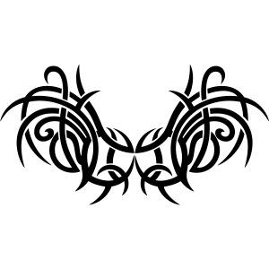 Tattoo Vleugels Met Doornen Moderne Tribal Stijl Jersey Pipo