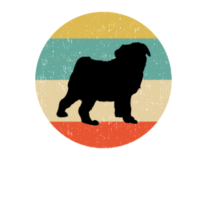 Mops-Hundegeschenkentwurf