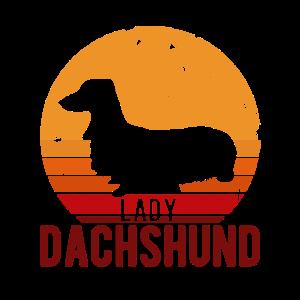 Lady Dachshund Retro