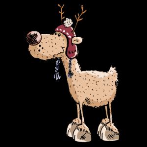 Fröhliches Rentier - Ren - Rentiere - Weihnachten