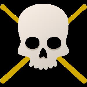 Schlagzeug Pirat Totenkopf Geschenk