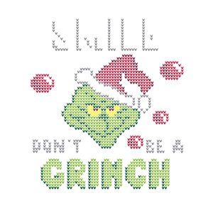 Smile Don't Be A Grinch Ugly Christmas T-Shirt