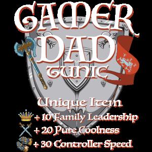 Gamer Vater Dad Gaming Zocken Shirt