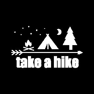 Wandern gehen Zelten Lagerfeuer Wald Berge Natur