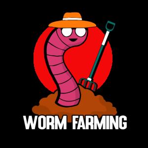 Wurm Farmer - Wurmfarmer lustiges T-Shirt