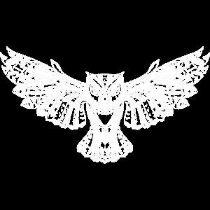 wunderschöne Eule mit gespreizten Flügeln