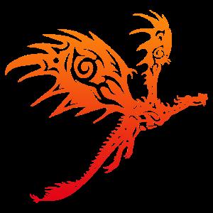Tattoo Tiere Rote Drache Lustige Geschenkidee