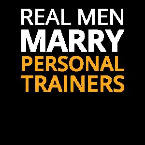 Lustiger persönlicher Trainer Wife Design Echter Mann heiraten