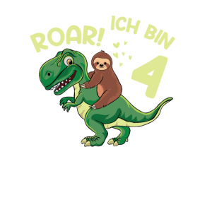 Roar ich bin 4 Dino Dinosaurier 4. Geburtstag