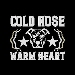 Kalte Nase aber warmes Herz - Hunde Spruch