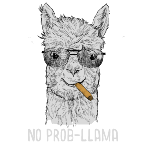 Lama Alpaka No Prob-llama Lamaliebhaber Alpaka