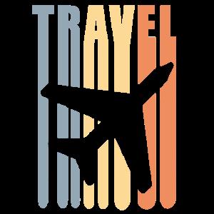 retro travel on a plane