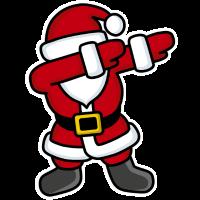 Dab / dabbing / dabbing'  Santa Claus