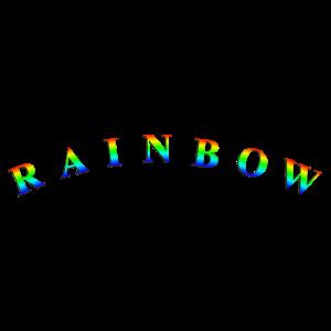 Rainbow-Text-Gebogen