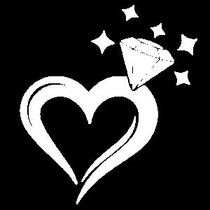 Herz Ring Diamant Heiraten Hochzeit