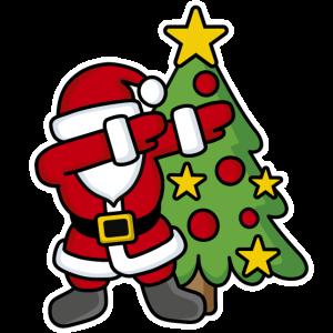 Dabbin' around the Christmas tree