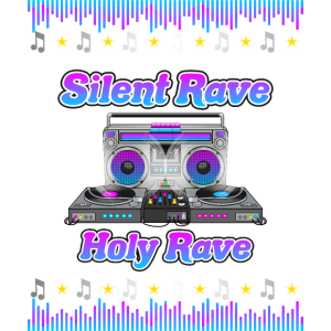 Silent Rave Holy Rave - Weihnachts Techno Design