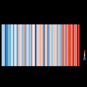 Warming Stripes Germany (black)