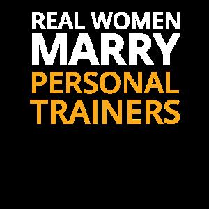 Lustiges persönliches Trainer-Design Wirkliche Frau heiraten