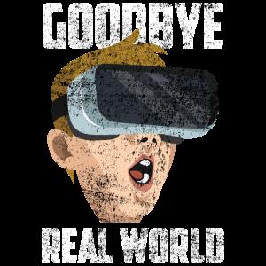 Vitual Reality VR Brille Nerd Spruch Geek