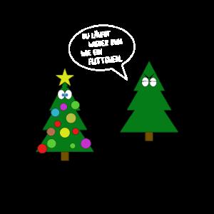 Weihnachtsbaum Flittchen lustiger Spruch Geschenk