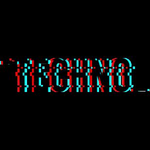 Techno Music Glitch Effect