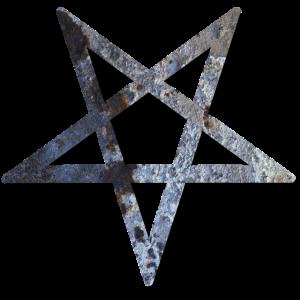 Pentagramm / pentagram / rost / rust