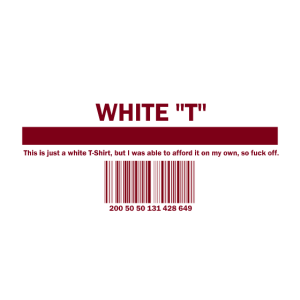 """White """"T"""""""
