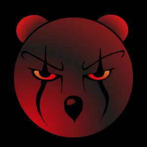 beängstigender Bärenkopf