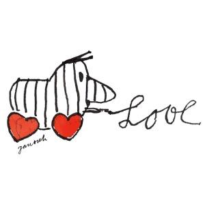 Janosch Tigerente Love Schriftzug
