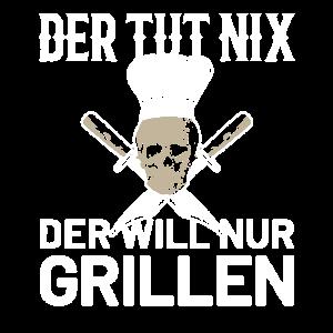 Grillmeister Grill Griller Mann Spruch Geschenk