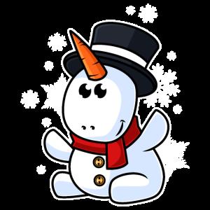 Snowicorn Schneemann Einhorn