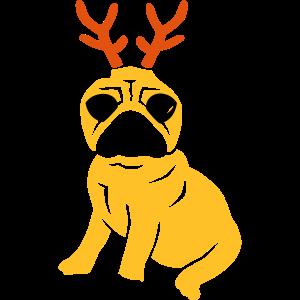 reindeer pug