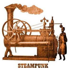 Steampunk Dampfmaschine Retro Futurismus