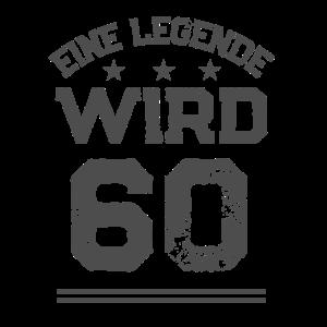 Geburtstag-Alter Shirt ● Legende mit 60 ● Geschenk