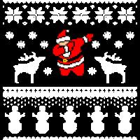 Ugly Christmas - Dabbing Santa Claus Dab Dance