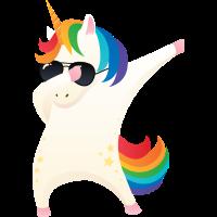 Dabbing Unicorn With Sunglasses - Dab Dance Gift