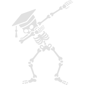 Dab skeleton dabbing student - pass exams