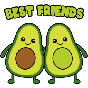 Best friends Avocados